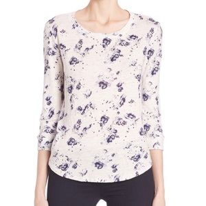 NWT Rebecca Taylor Meteor Floral Linen Tee